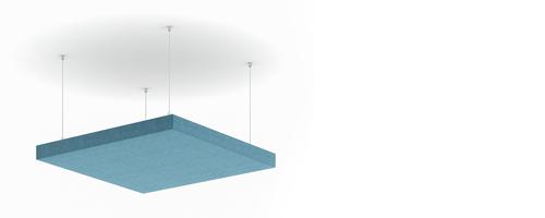 Suspendus sur des câbles métalliques